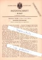 Original Patent - T. Teuber An Bord S. M. S. Freya , 1884 , Hydrostatischer Umdrehungsanzeiger !!! - Schiffe
