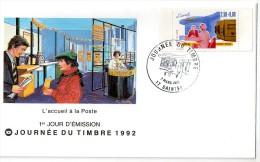 Lettre  1er  Jour  Journee  Du  Timbre  (saintes  1992 ) - France