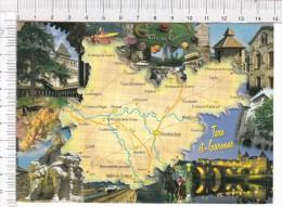 TARN Et  GARONNE   -   Cartographie    -  Multi Vues - France