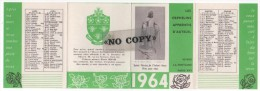 CALENDRIER  1964  ( Les Orphelins Apprentis D'AUTEUIL  ) - Calendriers
