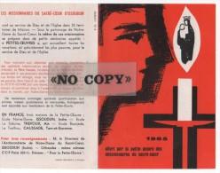 CALENDRIER  1965  ( La Petite - Oeuvre Des Missionnaires Du SACRE-CŒUR ) - Calendriers