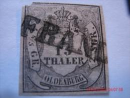 OLDENBURG, SCOTT#2, 1/15TH G, BLACK ON ROSE, USED - Oldenburg