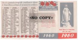 CALENDRIER  1960  ( Les ORPHELINS - APPRENTIS  D´AUTEUIL  ) - Calendriers