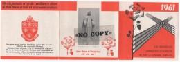 CALENDRIER  1961  ( Les ORPHELINS - APPRENTIS  D´AUTEUIL  ) - Calendriers