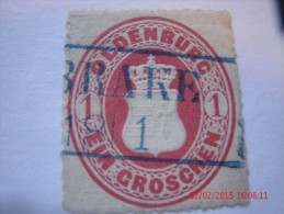 OLDENBURG, SCOTT# 18, 1 G ROSE, USED - Oldenburg