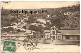29 - PORT De CARHAIX - La Gare Et Le Canal +++ Collection Hamon, Guingamp +++ Vers Le Château De KÉRIVON, 1911 +++ RARE - Carhaix-Plouguer