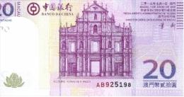 20 Patacas 2013 NEUF - Macau