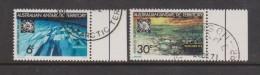 Australian Antarctic Territory 1971 Treaty Set Of 2 FU With Margins & Base Cancels - Australian Antarctic Territory (AAT)