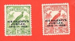 NGU SC #46-7 MNH  1935 Silver Jubilee Issue (New Guinea) - Papua New Guinea