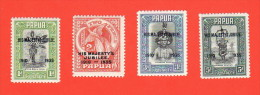 PNG SC #114-7 MH Silver Jubilee Ovprts, CV $9.20 (H) - Papua New Guinea