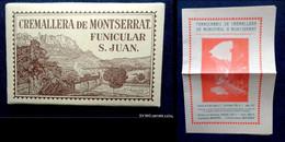 Pochette Contenant 12 Cartes - CREMALLERA DE MONTSERRAT FUNICULAR S. JUAN + Document Infos 1926 - Ohne Zuordnung