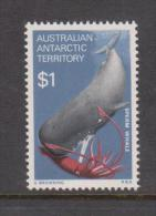 Australian Antarctic Territory 1973 $1 Sperm Whale Definitive MNH - Territorio Antartico Australiano (AAT)