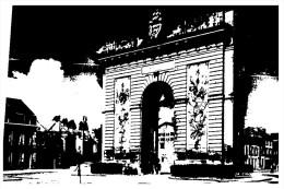 (299 M+S) Very Old Postcard - Carte Ancienne - France - Chalon Sur Marne Porte Sainte Croix - Gate - Banques