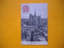Cpa   AMIENS  -  80  -  Cathédrale à Vol D´oiseau  - Somme - Amiens