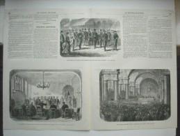 GRAVURE 1869. LES ELECTIONS DE PARIS.......... 3 GRAVURES AVEC EXPLICATIF, SUR UN DOUBLE FEUILLET......... - Prints & Engravings