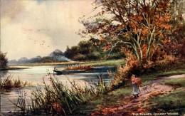 N°93 YY10-285 ILLUSTRATEUR RAPHAEL TUCK  AQUARETTE UP THE RIVER  THE THAMES QUARRY WOODS - Tuck, Raphael