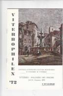 VITERBOPHILEX '72 - Esposizione Fil. Nazionale  - Libretto In Carta Patinata - Pagg. 12 - Cinderellas