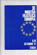 STRESA  1972 - Libretto - Mostra Filatelica Europea (pagg. 38 Compresa Copertina) - Erinnofilia
