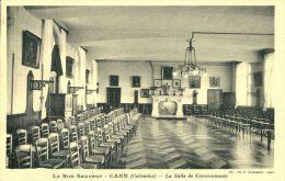 N°995A -cpa Caen -le Bon Sauveur -la Salle De Communauté- - Caen