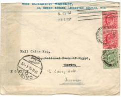 GB - Regno Unito - GREAT BRITAIN - UK - 1908 - Viaggiata Da London Per Cairo, Assouan, Egypt - Storia Postale