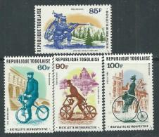 Togo P.A.  N° 352 / 55 XX  Histoire De La Bicyclette. Les 4 Valeurs  Sans  Charnière, TB - Togo (1960-...)