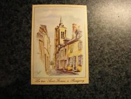 LA TOUR SAINT FIRMIN à BEAUGENCY Dessin De Michel Perreard Illustration Carte Postale Non Voyagée Non Ecrite - Beaugency