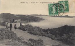 CPA  -Presqu'ile De  Giens  - Plage De La Vignette Et Iles D'Hyères - Autres Communes