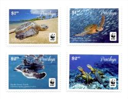 pen140301 Penrhyn 2014 WWF Pacific Green Turtle 4v fish