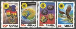 Ghana 1983 Gold Bauxite Diamond Iron Ore Minerals Fish Eagle Flag Commonwealth Michel 964-7 Set - Minéraux