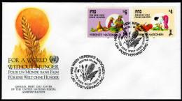 UNO WIEN 1988 - IFAD / Für Eine Welt Ohne Hunger - FDC - Ernährung