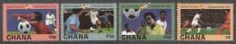 Ghana 1982 World Cup Football Soccer Spain Michel 945-8 Mint Set - Ghana (1957-...)