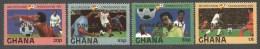 Ghana 1982 World Cup Football Soccer Spain Winner Michel 968-71 Mint Set - Ghana (1957-...)