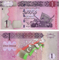 Libya 2013 One Dinar Uncirculated First Issue After Revolution - Libia