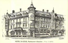 83174 - Illustrateur J. Klippstiehl      Hotel St Louis     Restaurant Alsacien      Proprietaire  V.Meng - Altre Illustrazioni