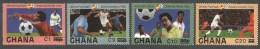 Ghana 1982 World Cup Football Soccer Spain New Values Overprint Michel 1020,1024,1030,1034 Mint Set - Ghana (1957-...)