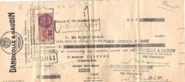 Lettre Change 1940 DANDICILLE & GAUDIN Conserveries Bordeaux Gironde Pour Gourdon Lot - Timbre  Fiscal - Bills Of Exchange