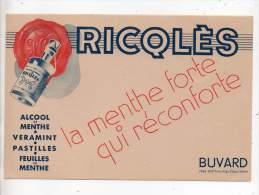 Buvard - Ricqlès, La Menthe Forte Qui Réconforte - Buvards, Protège-cahiers Illustrés