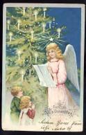 AK     ANGEL   ENGEL   FRÜHLICHE  WEIHNACHTEN     LITHO   1903 - Anges