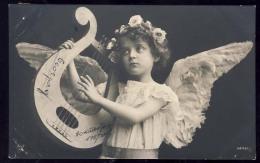 AK     ANGEL   ENGEL   REAL PHOTO POSTCARD   1907 - Anges