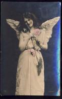 AK     ANGEL   ENGEL   REAL PHOTO POSTCARD   1908 - Anges