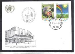 WIT374 UNO WIEN 2012  WEISSE KARTE - White Cards AUTISMUS BESSER VERSTEHEN - Centre International De Vienne