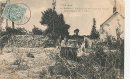 SURE - La Rivière - Endroit Où La Route Fut Coupée - Catastrophe Du 7 Juin - Autres Communes