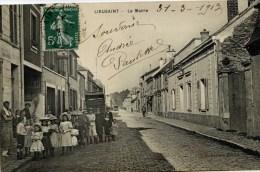 77 -LIEUSAINT- La Mairie ,Très Animée- Elegantes Fillettes Avec Chapeaux - Other Municipalities