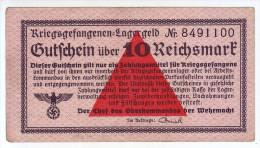ALLEMAGNE - Billet De 10 Reichsmark. Camps De Prisonniers. Guerre 39-45. - Autres