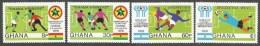 Ghana 1978 World Cup Football Soccer Argentina Winners Michel 771A-74A Mint Set - Ghana (1957-...)