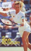 Télécarte Japon * Sport * TENNIS (1880)  TORAY * MARTINA NAVRATILOVA / CZECH REP. & USA * PHONECARD JAPAN * TELEFONK - Sport