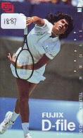 Télécarte Japon * Sport * TENNIS (1881)  Gabriela Sabatini * PHONECARD JAPAN * TELEFONKARTE - Sport