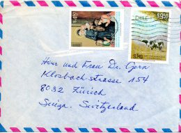 CHILI. N°558 De 1981 Sur Enveloppe Ayant Circulé. Vache. - Vaches