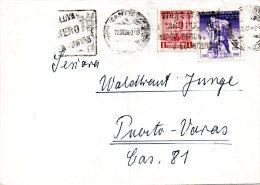 CHILI. N°301 De 1963 Sur Enveloppe Ayant Circulé. Pompiers. - Sapeurs-Pompiers