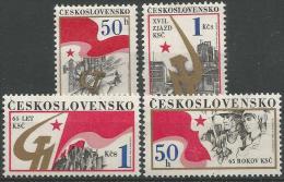 CSR 1986-2853-6 KPCSR, CZECHOSLOVAKAI, 1 X 4v, MNH - Cecoslovacchia